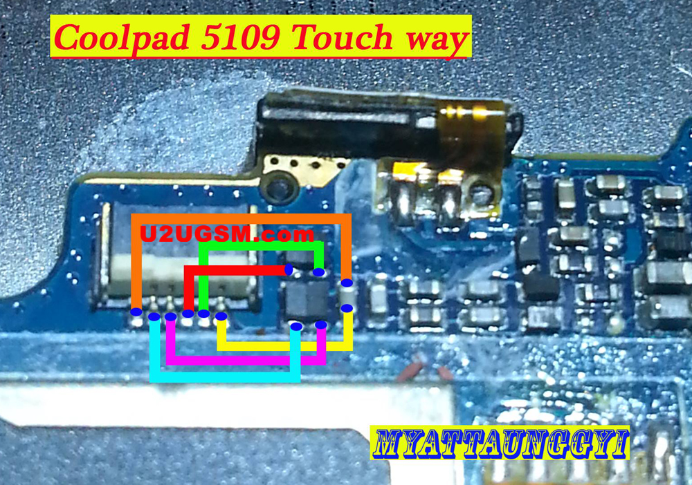 Coolpad 5109 touch screen not working problem solution jumpers