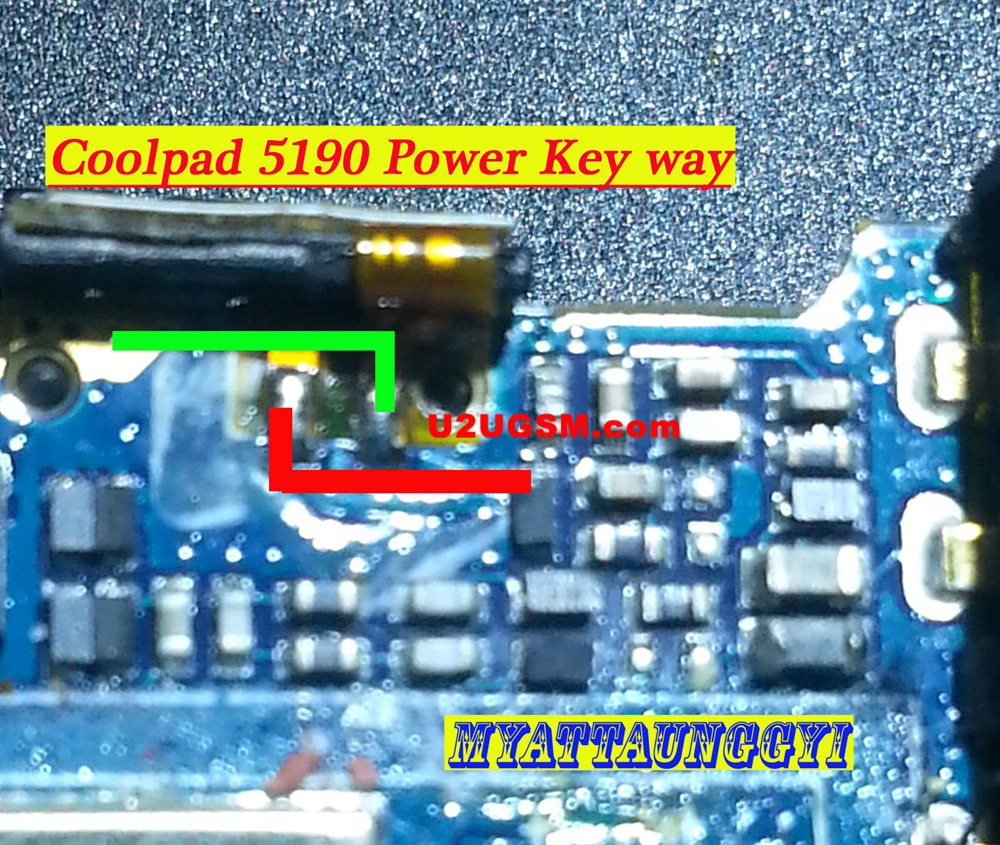 Coolpad 5190 Power Button Solution Jumper Ways