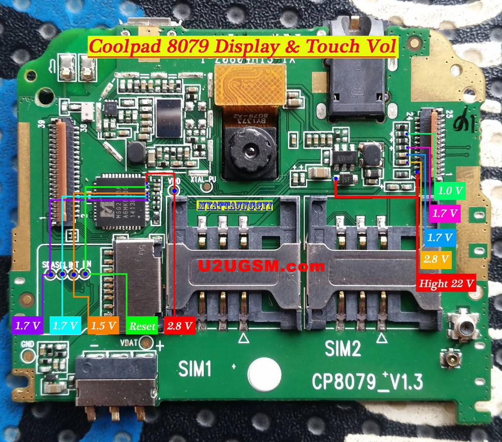 Coolpad 8079 touch screen not working problem solution jumpers