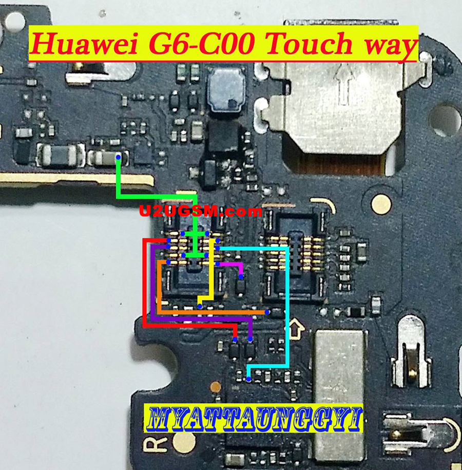 Huawei Ascend G6 touch screen not working problem solution jumpers