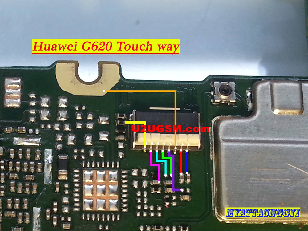Huawei Ascend G620 touch screen not working problem solution jumpers