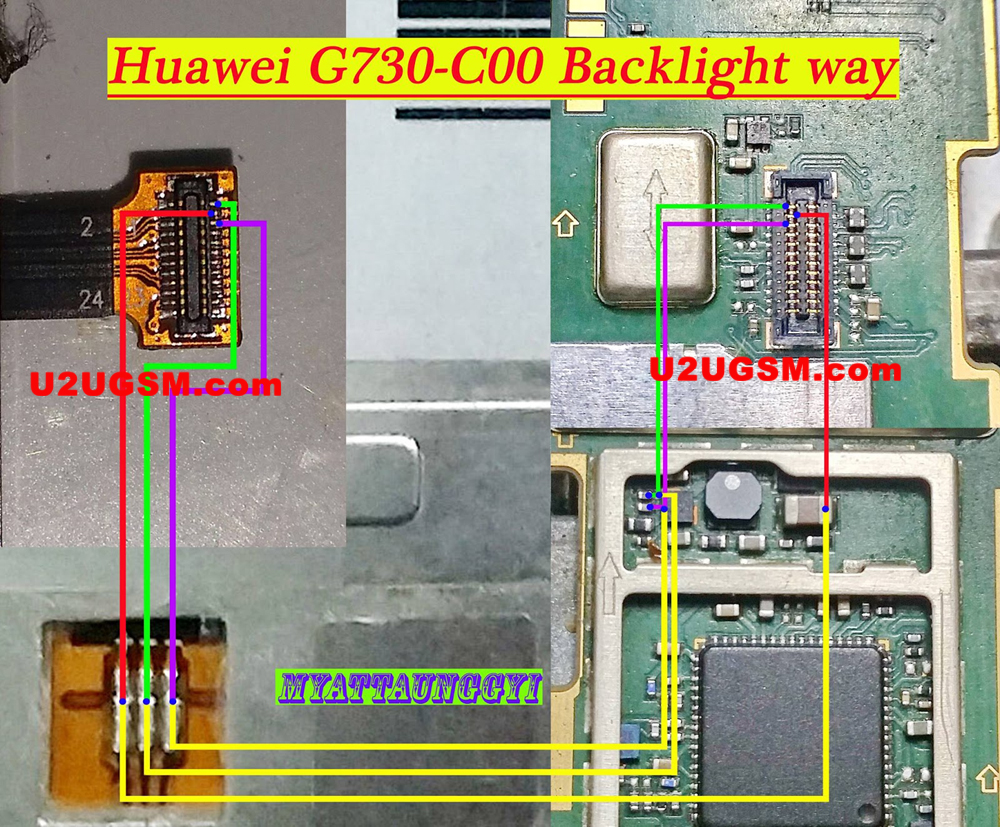 Huawei Ascend G730 Display Light Solution LCD Jumper Problem Ways