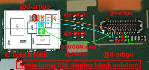 Microsoft Lumia 435 Display Problem Solution Jumper Ways