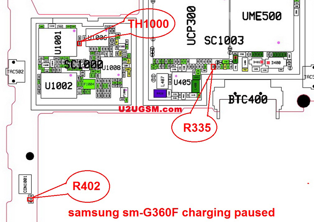 Samsung Galaxy Core Prime G360F Charging Paused Solution Jumpers