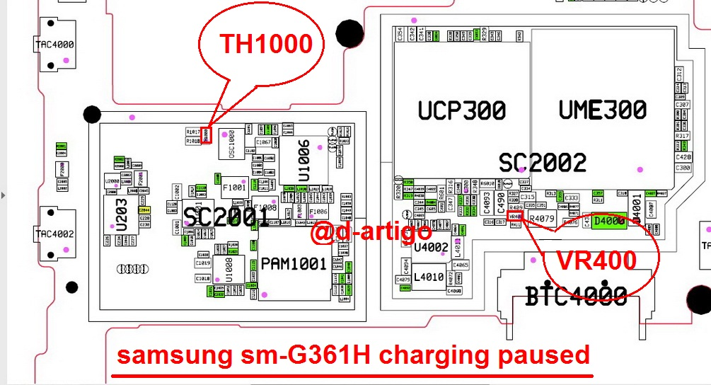Samsung Galaxy Core Prime G361H Charging Paused Solution Jumpers