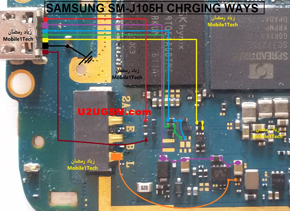 Samsung Galaxy J1 Mini J105H Usb Charging Problem Solution Jumper Ways