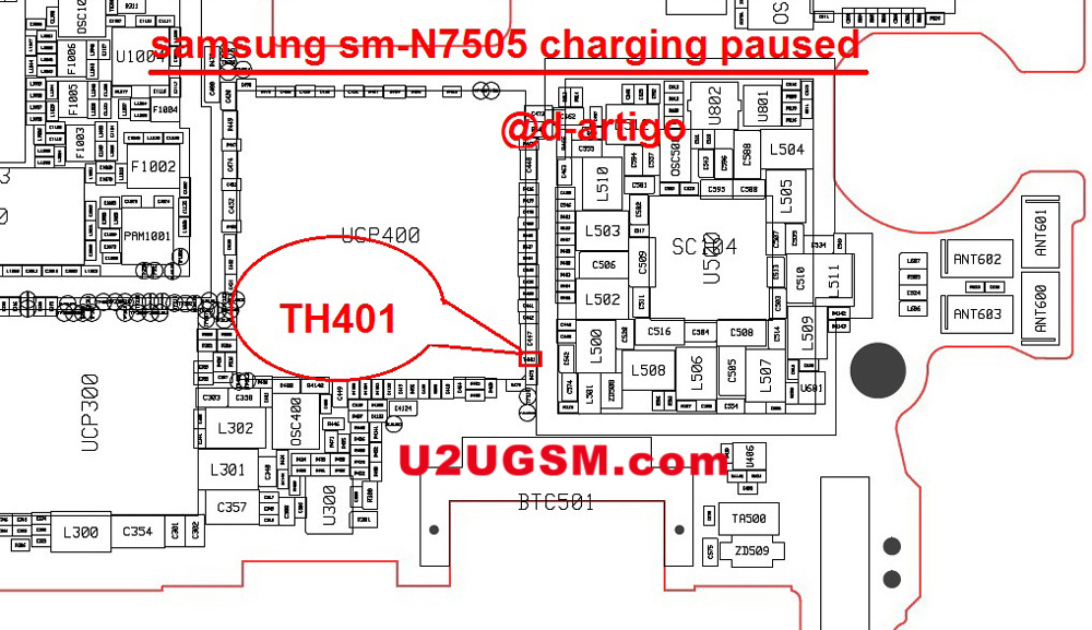 Samsung Galaxy Note 3 Neo N7505 Charging Paused Solution Jumpers