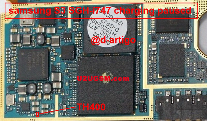 Samsung Galaxy S III I747 Charging Paused Solution Jumpers