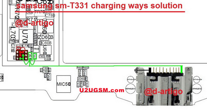 Samsung Galaxy Tab4 T331 Charging Charging Solution Jumper Problem Ways
