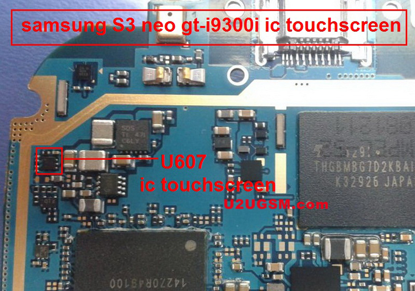 Samsung I9300I Galaxy S3 Neo touch screen not working problem solution jumpers