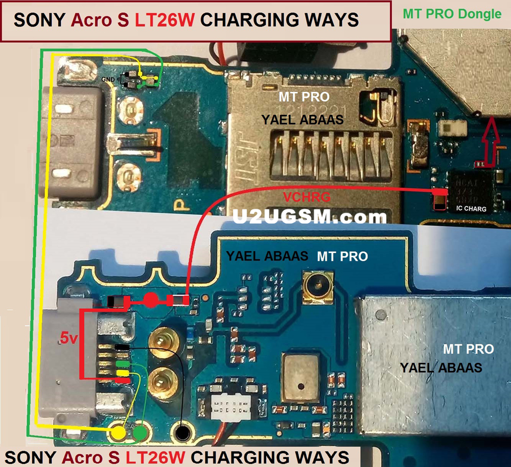 Sony Xperia Acro S LT26w Usb Charging Problem Solution Jumper Ways