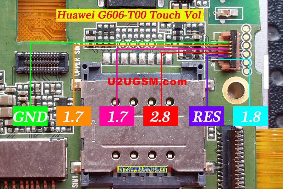 Huawei Ascend G606-T00 touch screen not working problem solution jumpers