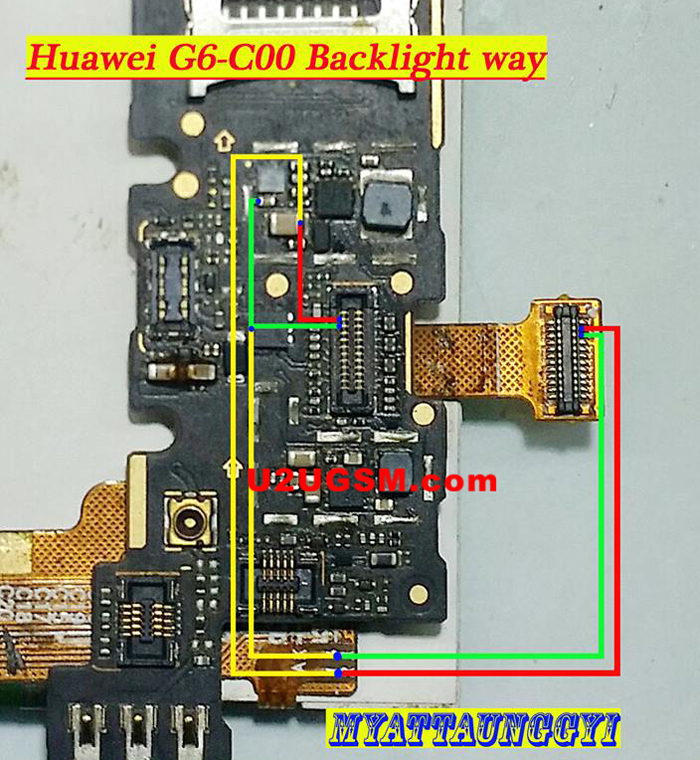 Huawei G6-C00 Cell Phone Screen Repair Light Problem Solution Jumper Ways