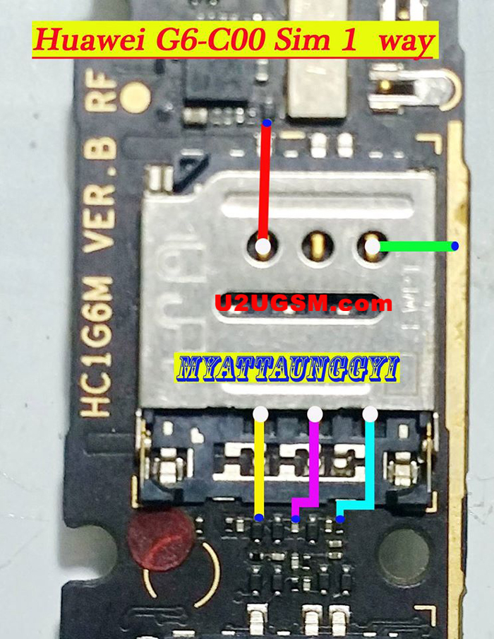 Huawei G6-C00 Insert Sim Card Problem Solution Jumper Ways