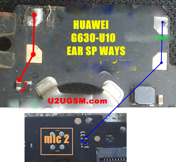 Huawei G630-U10 Mic Problem Solution Microphone Not Working  Jumpers Ways