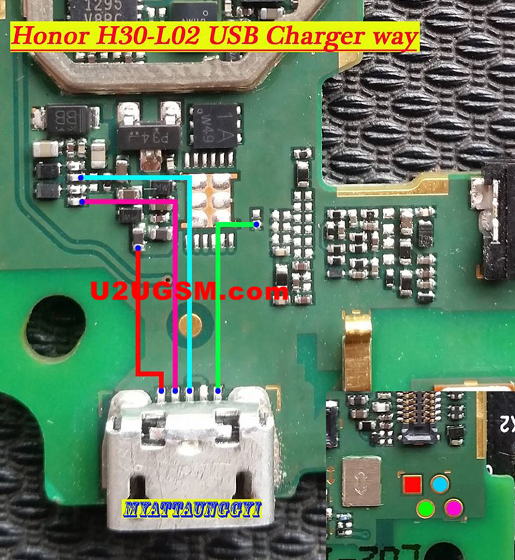 Huawei Honor 3C LTE H30-L02 Usb Charging Problem Solution Jumper Ways
