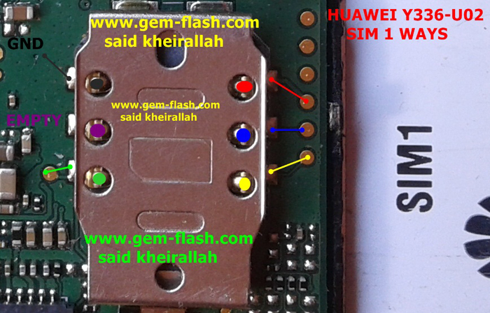 Huawei Y336-U02 Insert Sim Card Problem Solution Jumper Ways