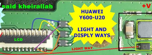 Huawei Y600-U20 Display Problem Solution Jumper Ways