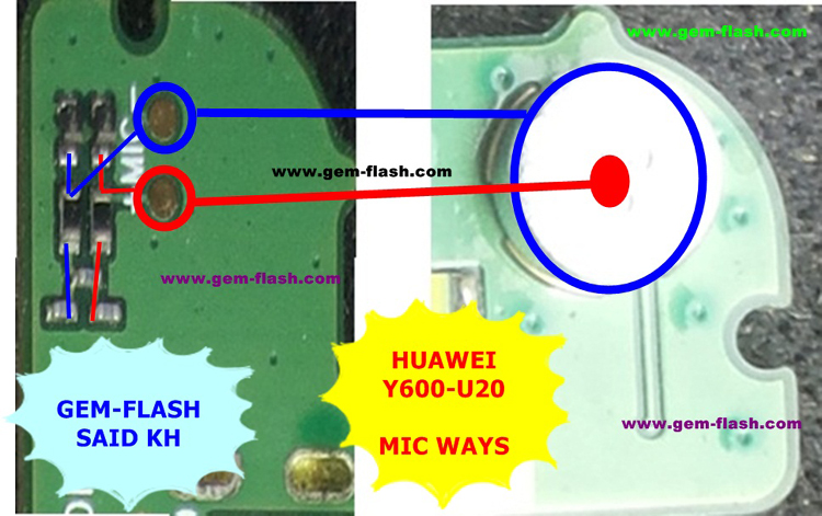 Huawei Y600-U20 Mic Problem Solution Microphone Not Working  Jumpers Ways