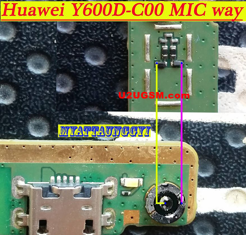Huawei Y600D-C00 Mic Problem Jumper Solution Ways Microphone Not Working