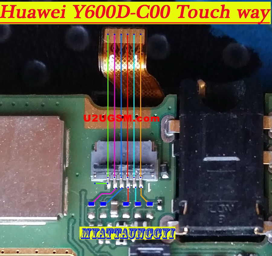 Huawei Y600D-C00 touch screen not working problem solution jumpers
