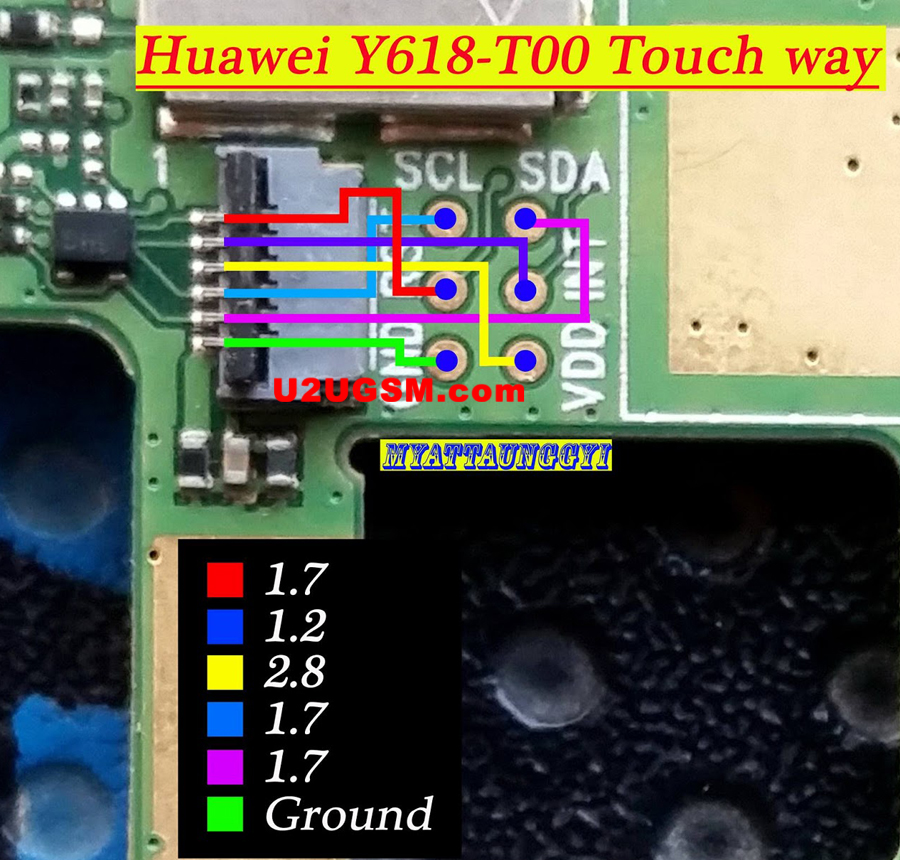 Huawei Y618-T00 touch screen not working problem solution jumpers