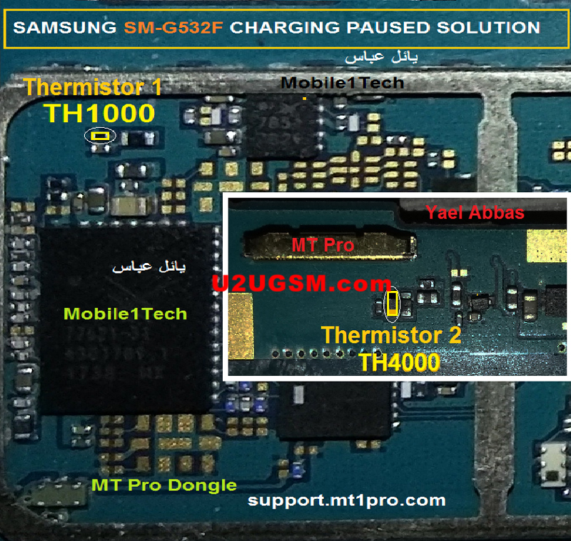 Samsung Galaxy Grand Prime Plus G532F Charging Paused Solution Jumpers