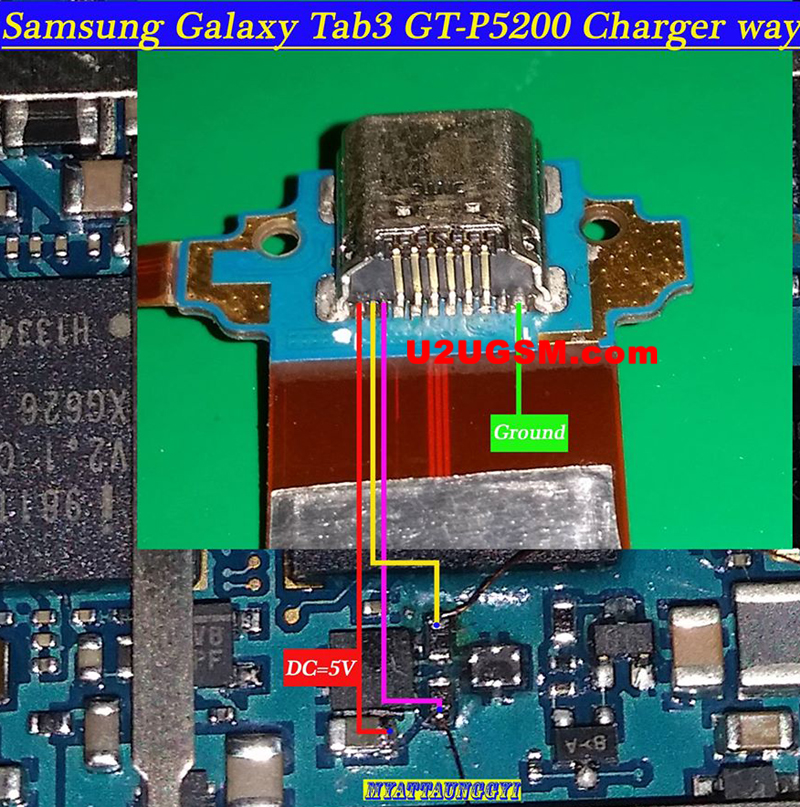 Samsung Galaxy Tab 3 10.1 P5200 Usb Charging Problem Solution Jumper Ways