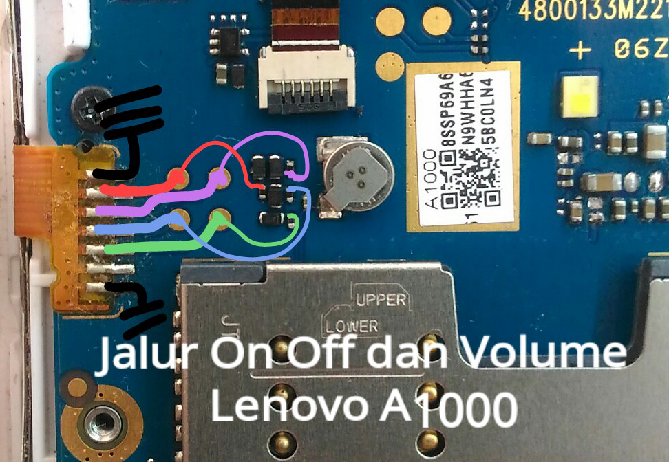 Lenovo A1000 Power Button Solution Jumper Ways