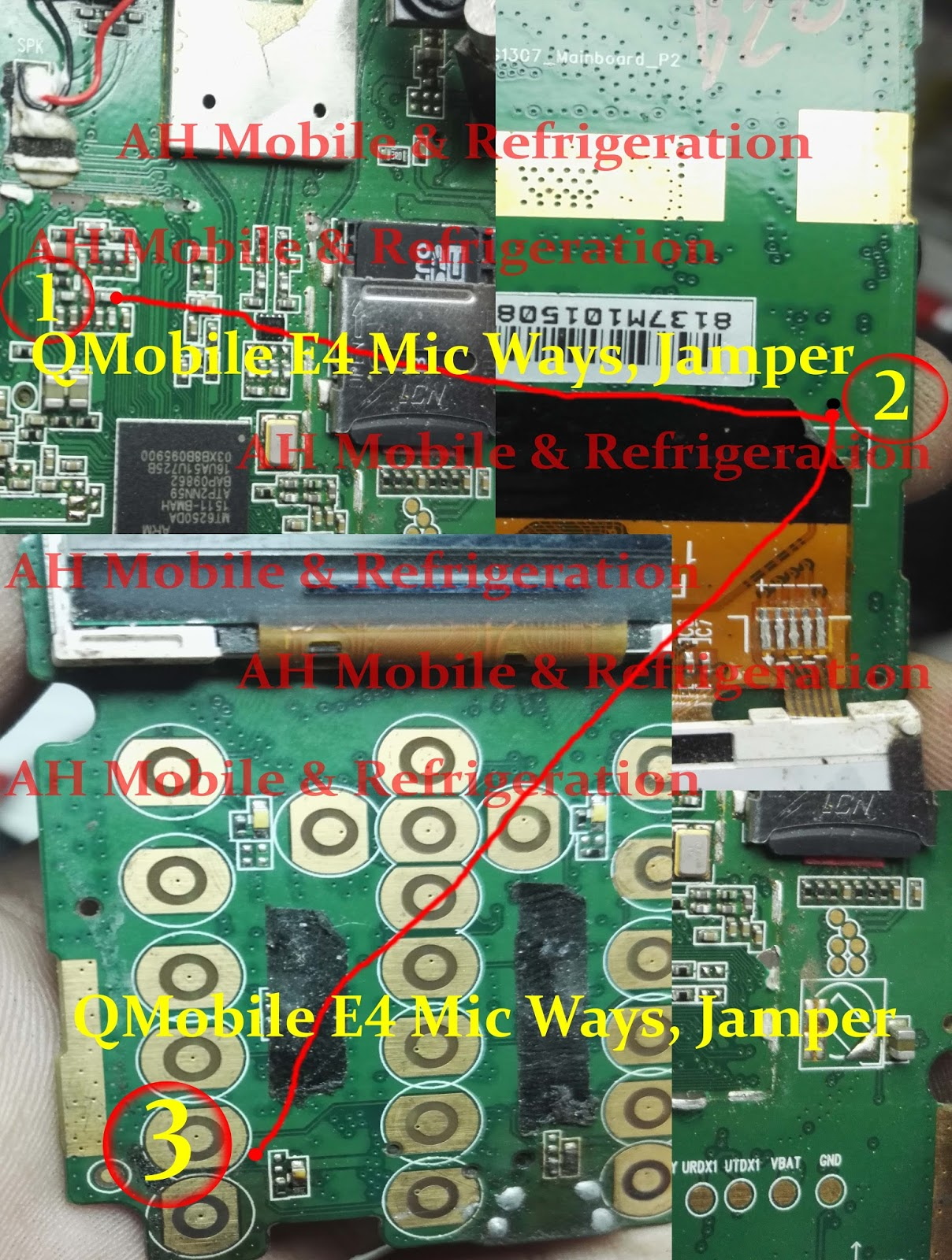 QMobile E4  Mic Solution Jumper Problem Ways Microphone