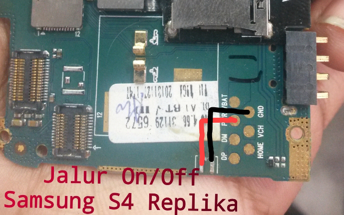 Samsung S4 Replika Power Button Solution Jumper Ways