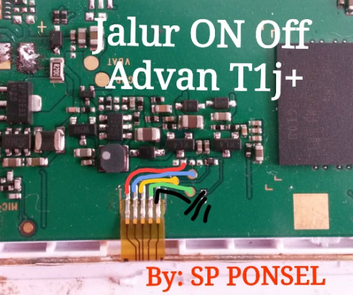 Advan Vandroid T1J+ Power Button Solution Jumper Ways