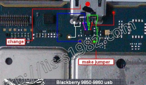 BlackBerry Torch 9850 Usb Charging Problem Solution Jumper Ways