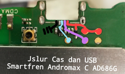 Smartfren Andromax AD686G Usb Charging Problem Solution Jumper Ways