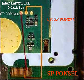 nokia 107 display light problem jumper solution