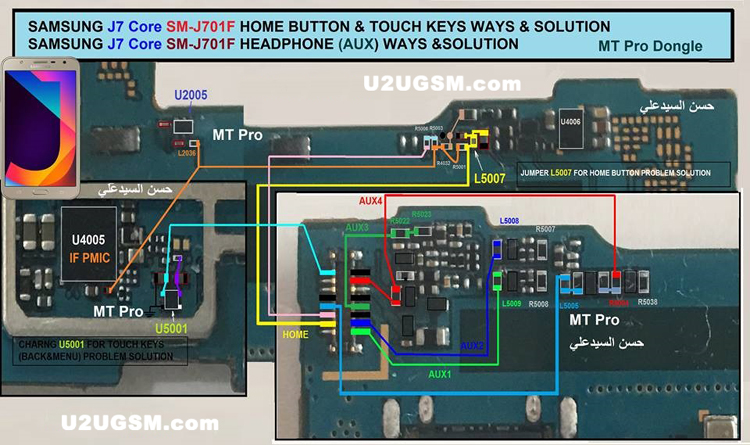 Samsung Galaxy J7 Core J701F Home Key Button Not Working Problem Solution Jumper