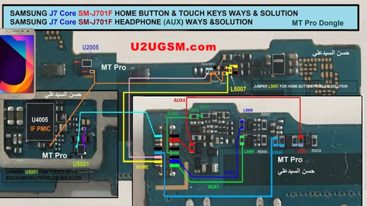 Samsung Galaxy J7 Core J701F Home Key Button Not Working Problem