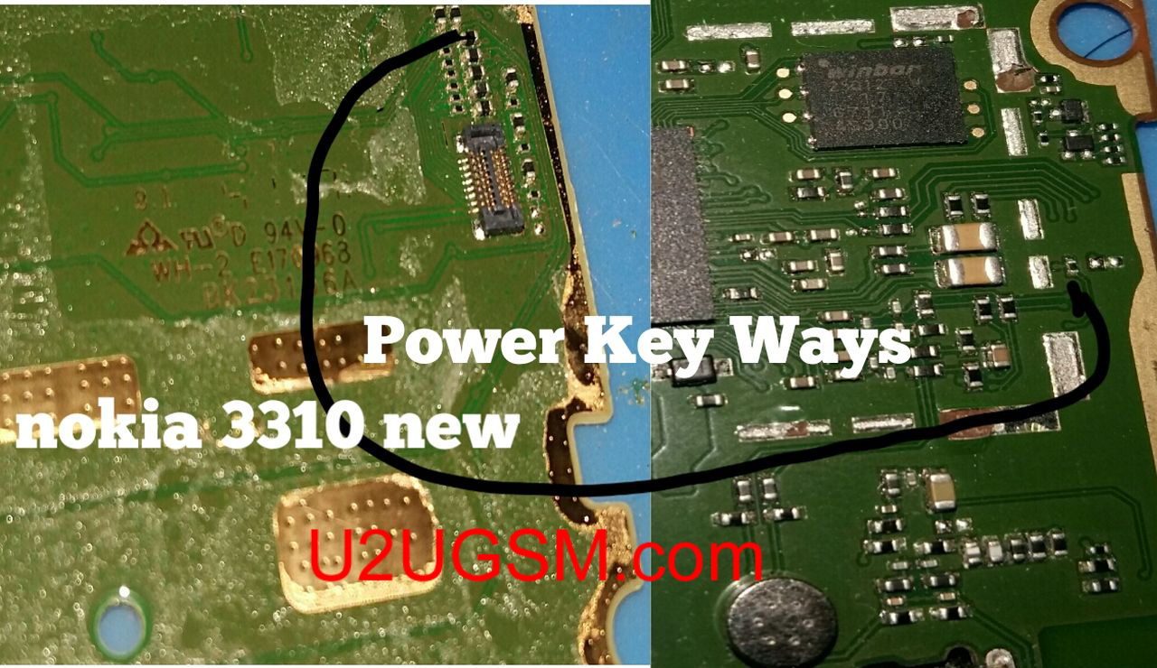 Nokia 3310 2017 Power On Off Key Button Switch Jumper Ways