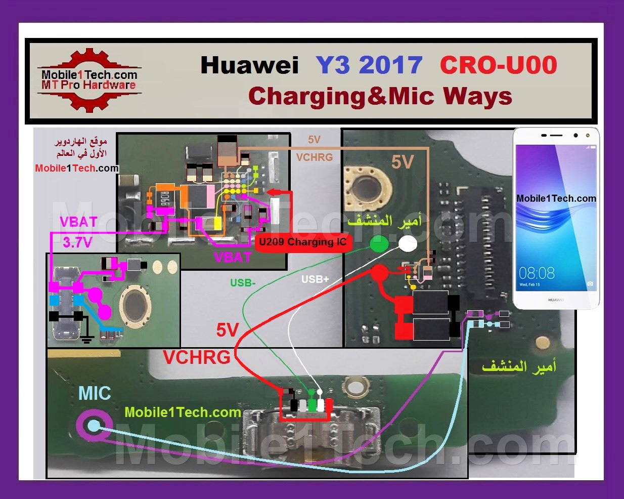 Huawei Y3 2017 Mic Problem Jumper Solution Ways Microphone Not Working