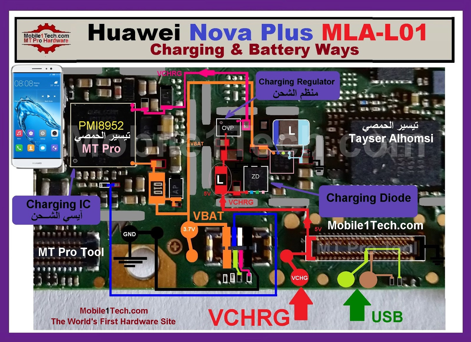 Huawei Y5 2017 Battery Connector Terminal Jumper Ways