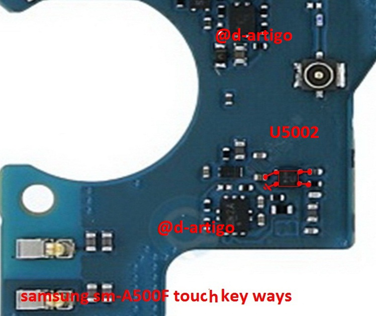 Samsung Galaxy A5 A500F touch Keys not working problem solution jumpers