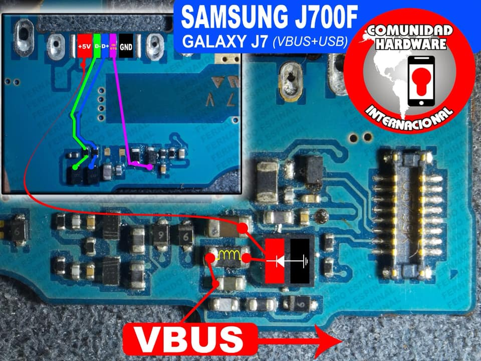 Samsung Galaxy J7 J700F Usb Charging Problem Solution Jumper Ways