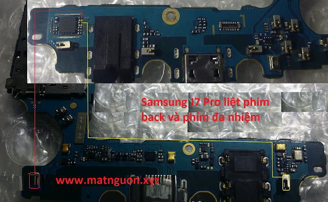 Samsung Galaxy J7 Pro J730G Back and Recent Button Solution Jumpers