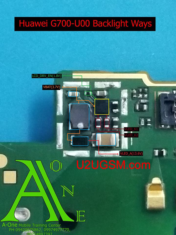 Huawei Ascend G700 Display Light Solution
