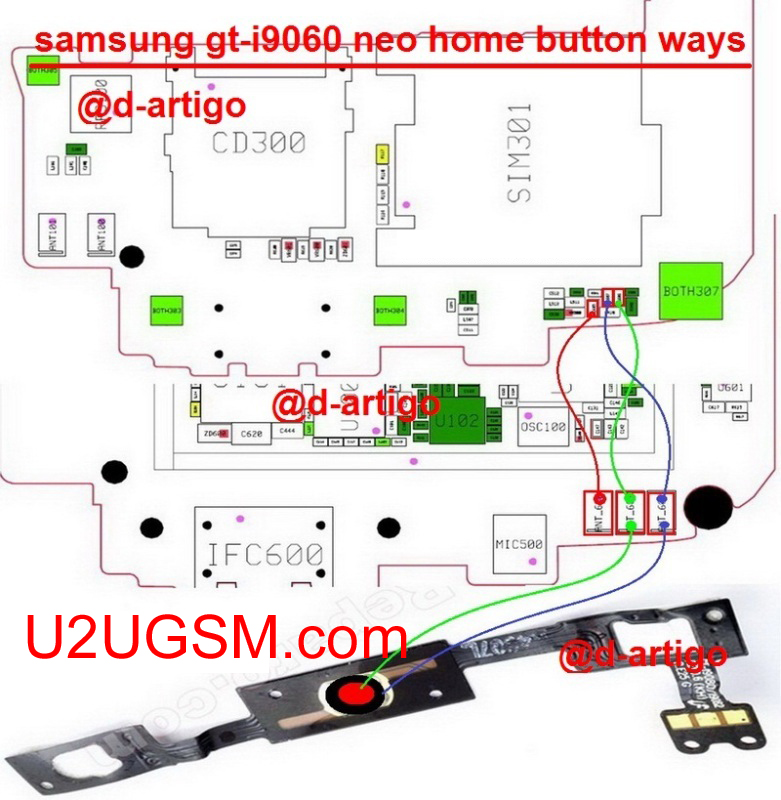 Samsung Galaxy Grand Neo I9060I Home Key Button Not Working Problem Solution Jumper