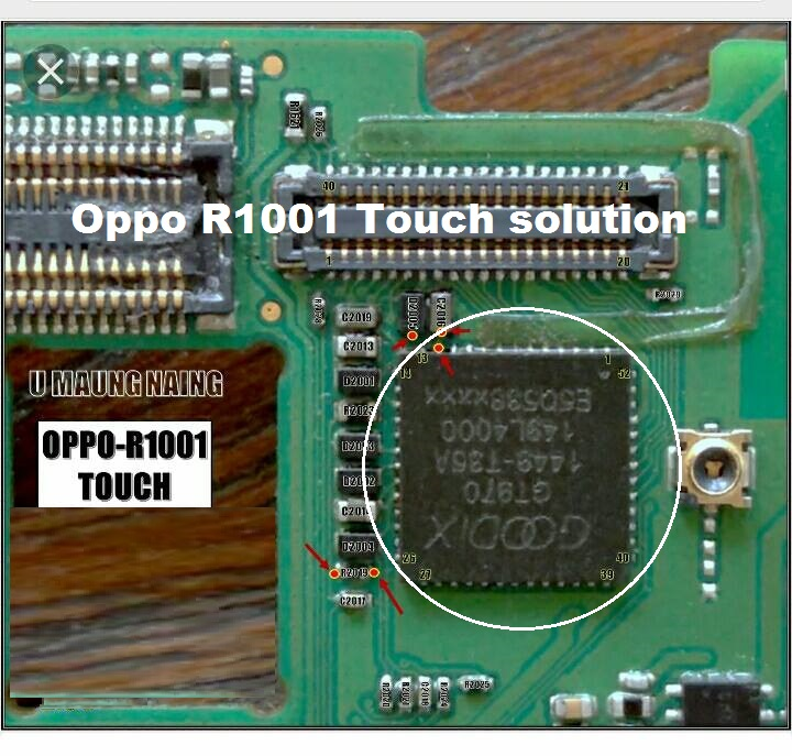 Oppo R1001 Joy touch screen not working problem solution jumpers