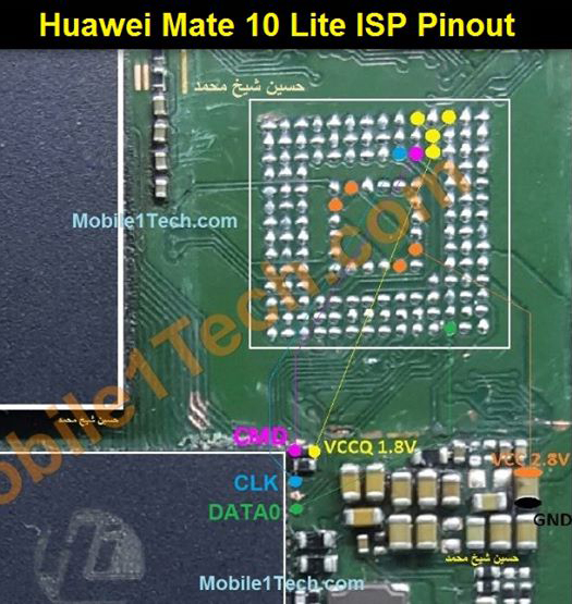 Huawei Mate 10 Lite Test Points Pin Out Solution Flash Point