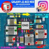 Samsung Galaxy J1 Ace Neo J111F Cell Phone Screen Repair Light Problem Solution Jumper Ways