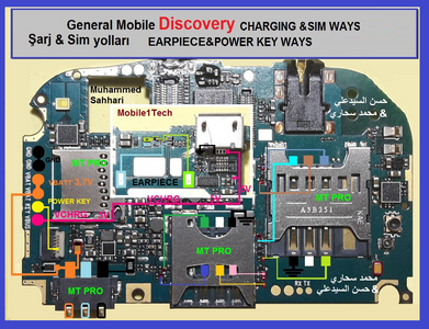 General Mobile Discovery Battery Connector Terminal Jumper Ways