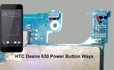 HTC Desire 630 Power Button Solution Jumper Ways